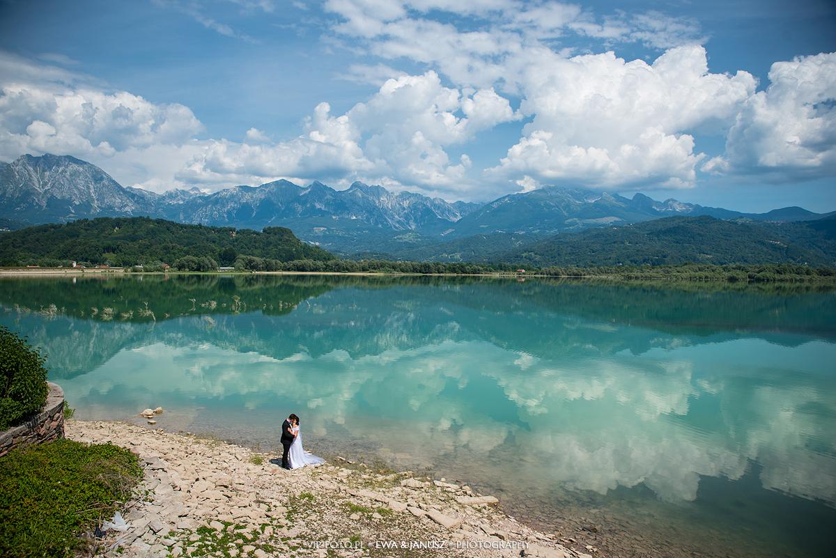 Sesja ślubna we Włoszech Lago di Santa Croce